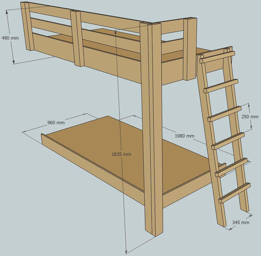 Как сделать детскую двухъярусную кровать своими руками фото 4