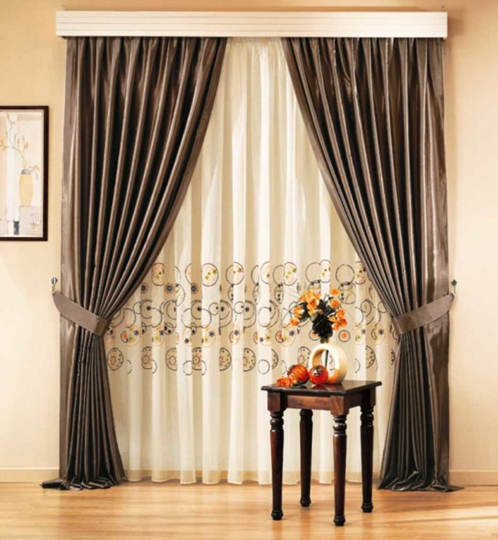 Satin curtains (18)