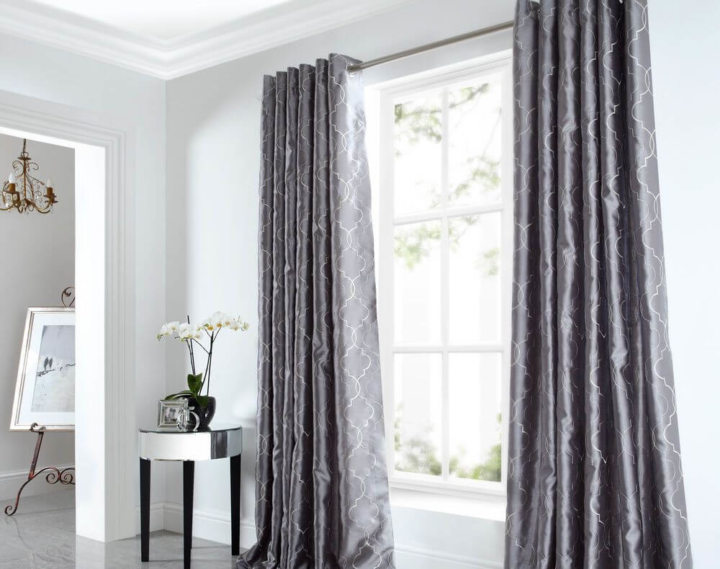 Satin curtains (19)