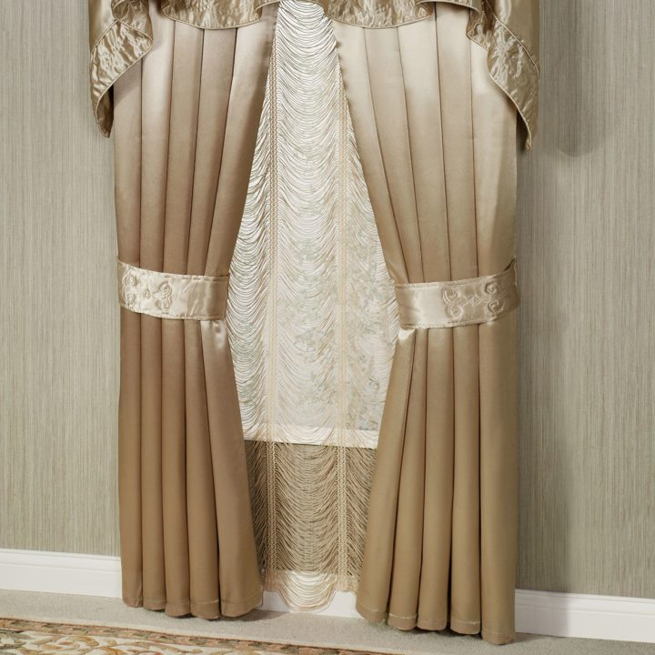 Satin curtains (2)