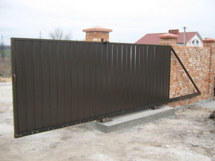 Сколько стоят откатные ворота под ключ