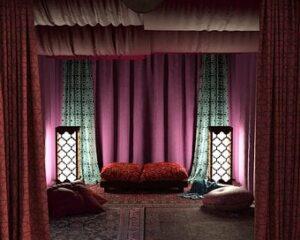 Как правильно сочетать шторы и подушки